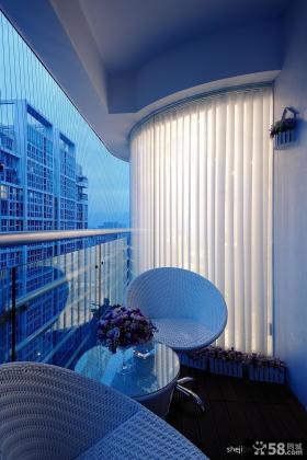 客厅阳台装修效果图 阳台护栏装修效果图