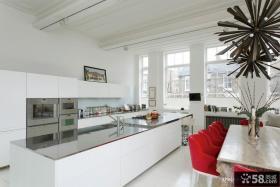 简约开放式厨房装修设计图