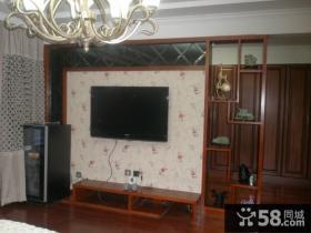 中式电视背景墙装修效果图大全2013图片