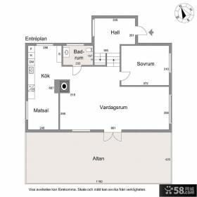 瑞典小复式房屋平面图