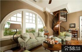 复式楼客厅室内装饰设计图片