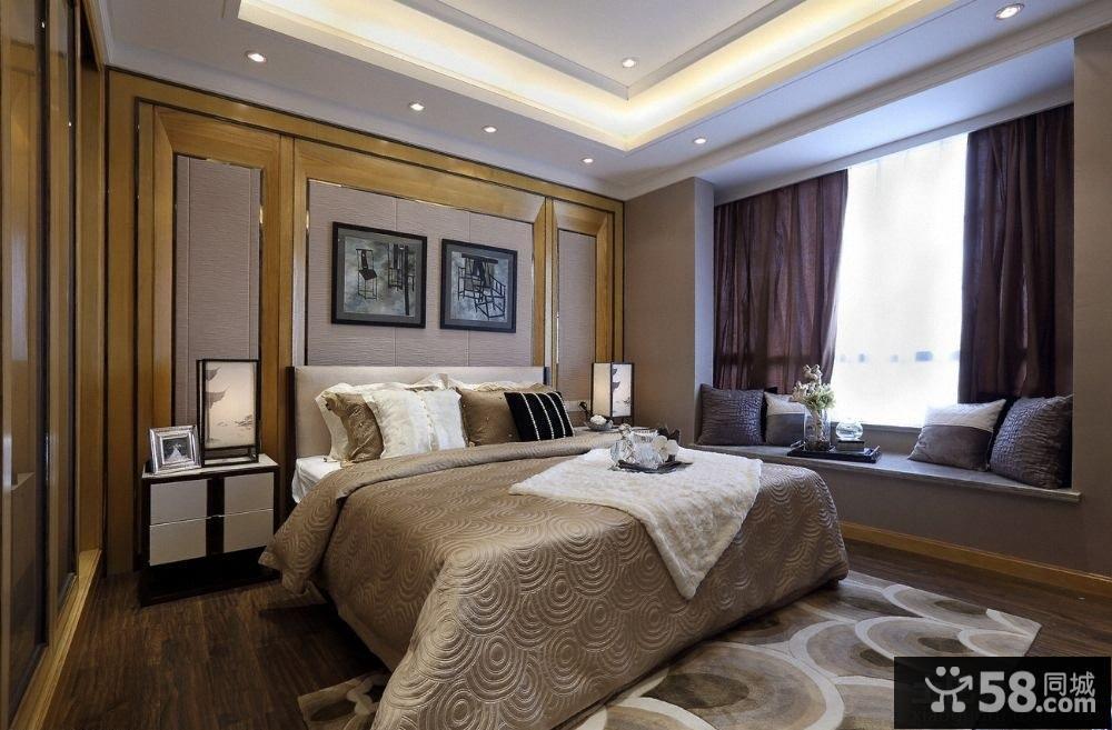 现代风格卧室飘窗图片