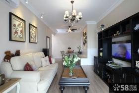 现代美式风格客厅装修设计图片