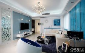 现代简约客厅壁纸电视背景墙效果图