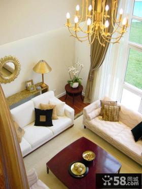 现代风格复式楼客厅吊灯效果图