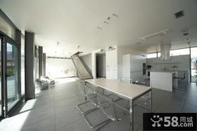 40万华丽后现代装修风格厨房整体橱柜图片