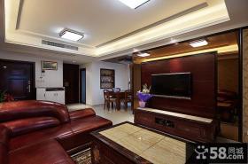 装修美式客厅电视背景墙大全