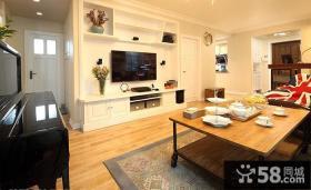 时尚小户型客厅电视背景墙设计