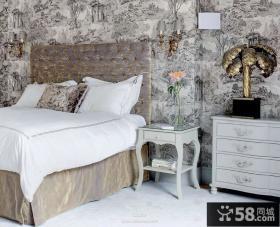 欧式小卧室墙纸装修效果图大全