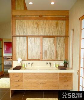 现代风格卫生间装修 洗手间装修效果图