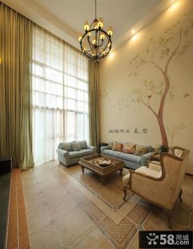 复古美式风格客厅装潢图片欣赏