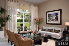 欧式客厅半遮光窗帘图
