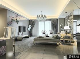 新中式客厅吊顶图片