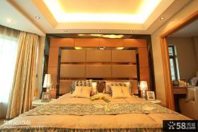 优质现代卧室软包背景墙效果图