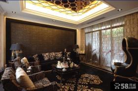 欧式古典风格客厅装修效果图