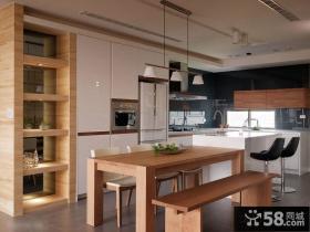 美式餐厅二居室家用餐厅设计图片