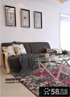 客厅沙发背景墙装饰画图片欣赏