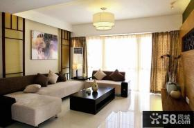 中式风格二居客厅装饰画效果图