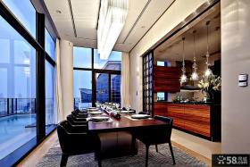 豪华别墅阳台餐厅设计