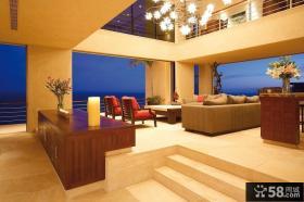 奢华浪漫的欧式别墅客厅装修效果图大全2014