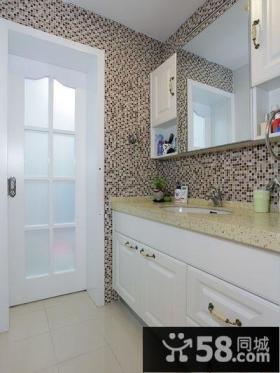 现代马赛克卫生间装潢