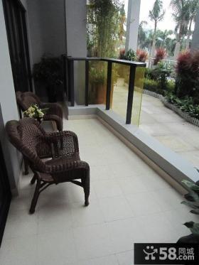 客厅阳台装修效果图 客厅阳台装修隔断效果图