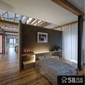 客厅与卧室隔断墙效果图