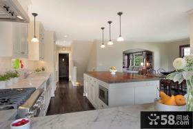 欧式整体厨房白色橱柜装修效果图大全2013图片