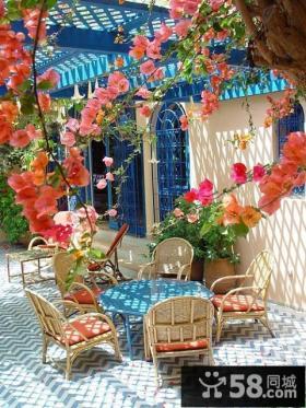 地中海阳台花园设计效果图