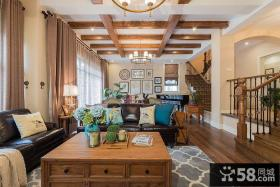 美式田园风格别墅客厅设计欣赏