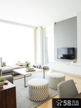 简约风格客厅电视背景墙设计效果图