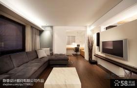 简约型客厅电视背景墙图片欣赏