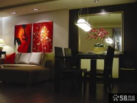 2013家装餐厅吊灯装饰效果图片