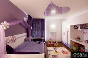 紫色唯美公主儿童房