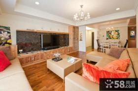 家装小户型客厅电视背景墙效果图大全