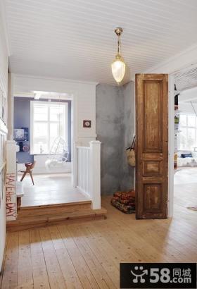 90平小户型舒适的瑞典北欧风情进门玄关装修效果图