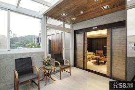 工业风格室内设计阳台效果图