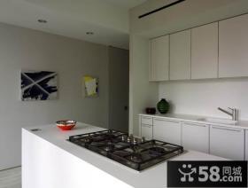 二室二厅简约自然的厨房橱柜装修效果图大全2014图片