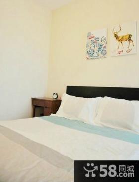 美式风格卧室墙面手绘画效果图