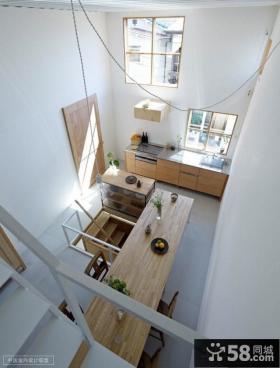 现代风格复式厨房餐厅样板间