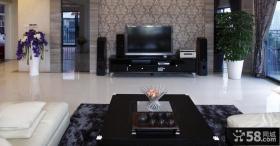 2013现代风格客厅电视背景墙效果图