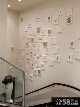 楼梯间创意照片墙效果图
