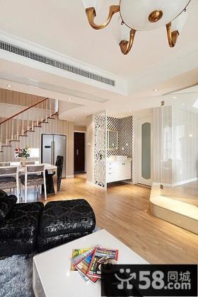 现代简欧复式楼室内装修效果图大全