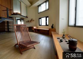 美式实木复式室内装修图片