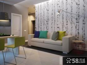 时尚现代客厅装潢案例