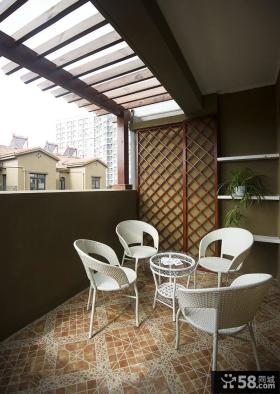 地中海风格设计阳台布置图片