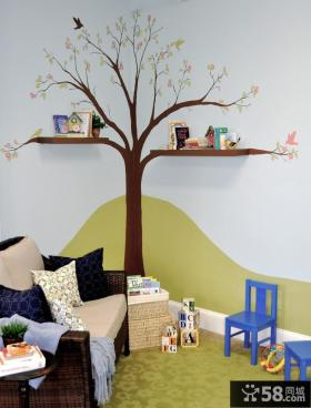 小户型儿童房创意书架装修效果图