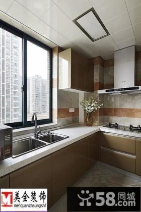 L型小厨房集成吊顶装修效果图
