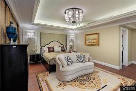 欧式新古典两室两厅卧室吊顶效果图