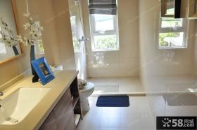 简约风格家庭普通浴室装修图
